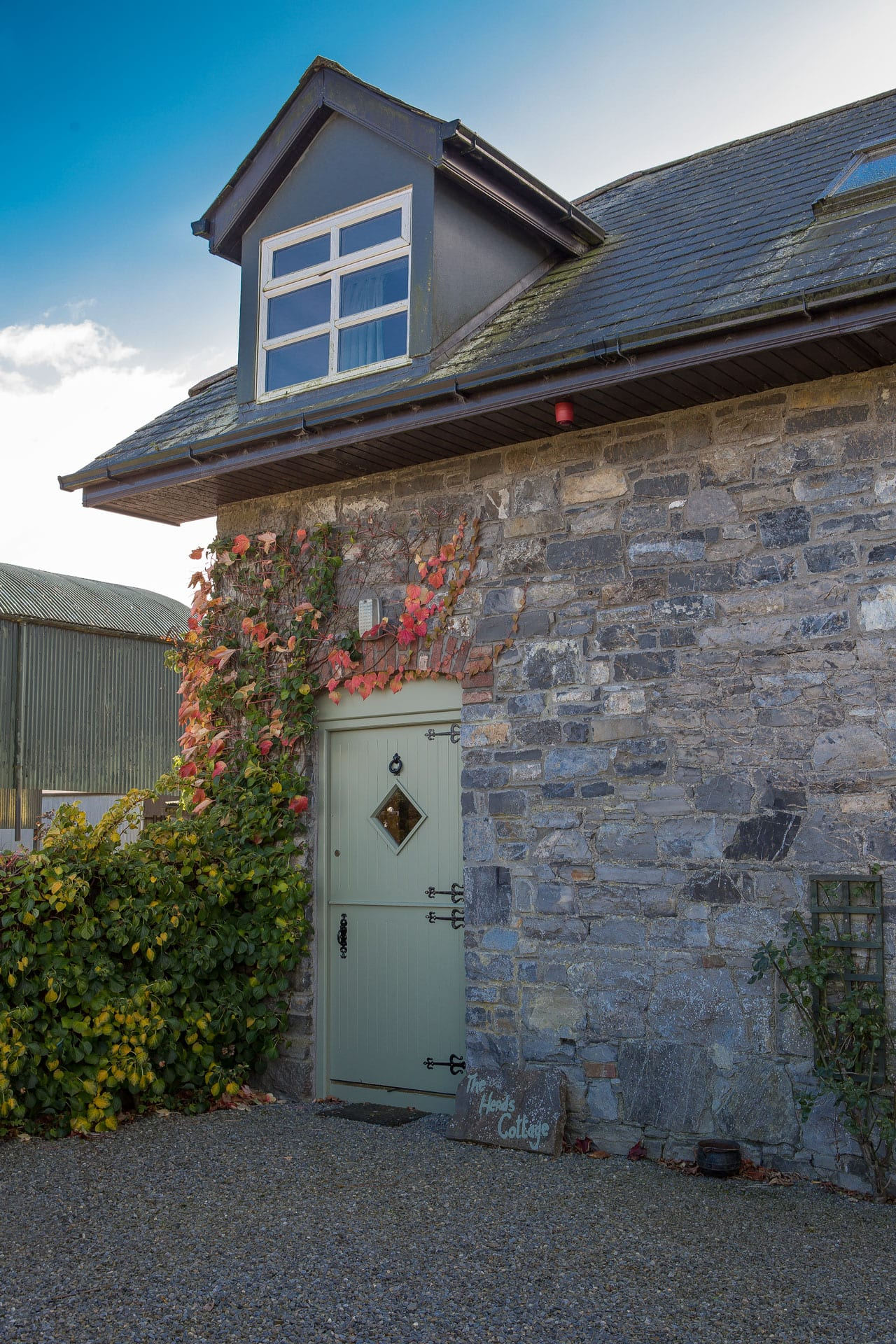 Cottage House Door Facade Outdoors Escape Ivy Creeper Nature Field Trees Farm Holiday-Homes-Ireland-Meath-Dunshaughlin Self Catering