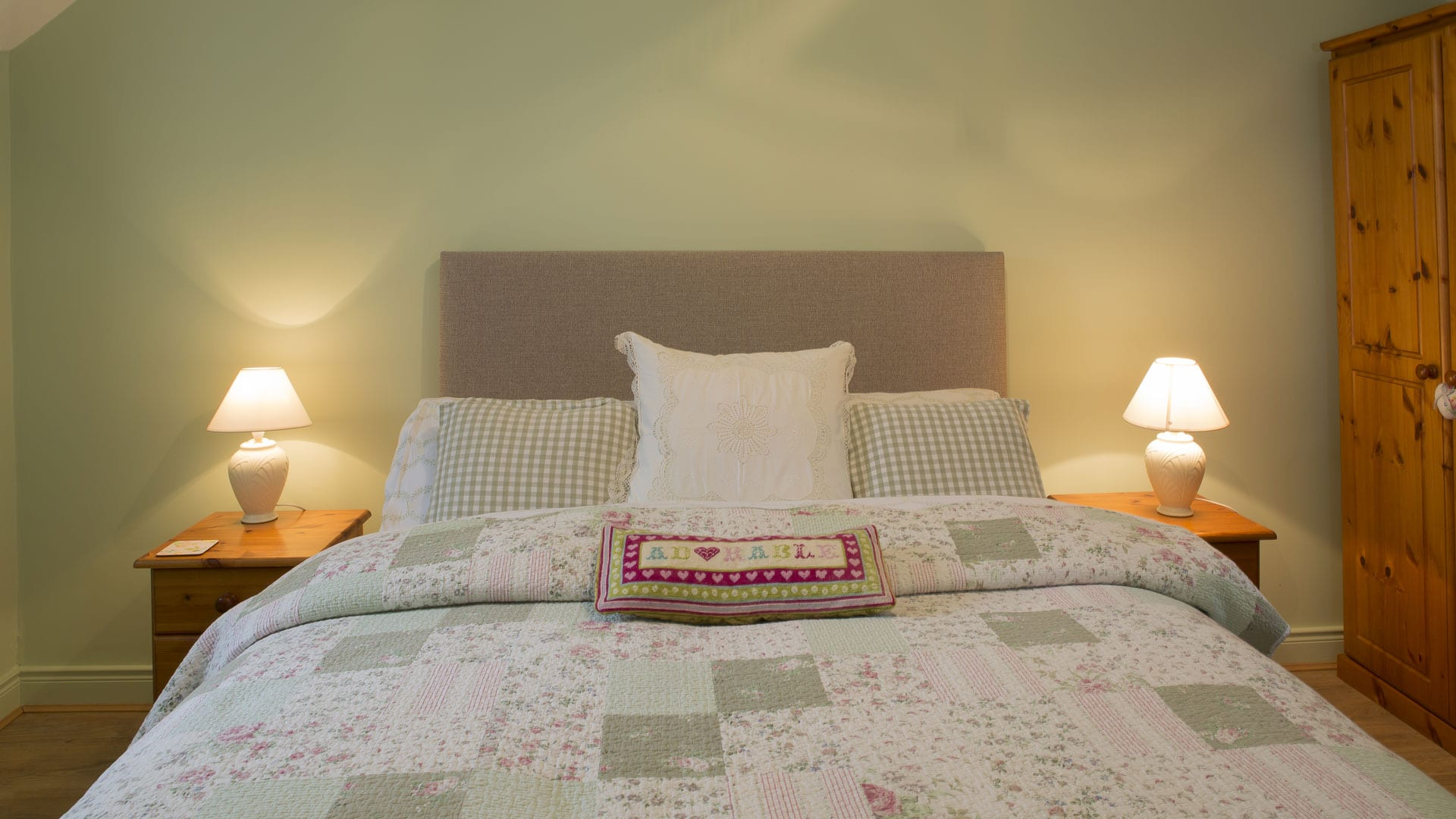Double-Bed-Bedroom-Pillows-Blankets--Holiday-Homes-Ireland-Meath-Dunshaughlin-Self-Catering