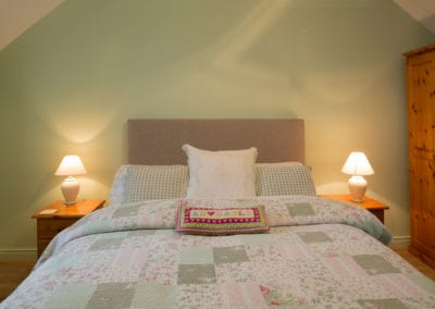 Double Bed Bedroom Pillows Blankets Holiday-Homes-Ireland-Meath-Dunshaughlin-Self-Catering