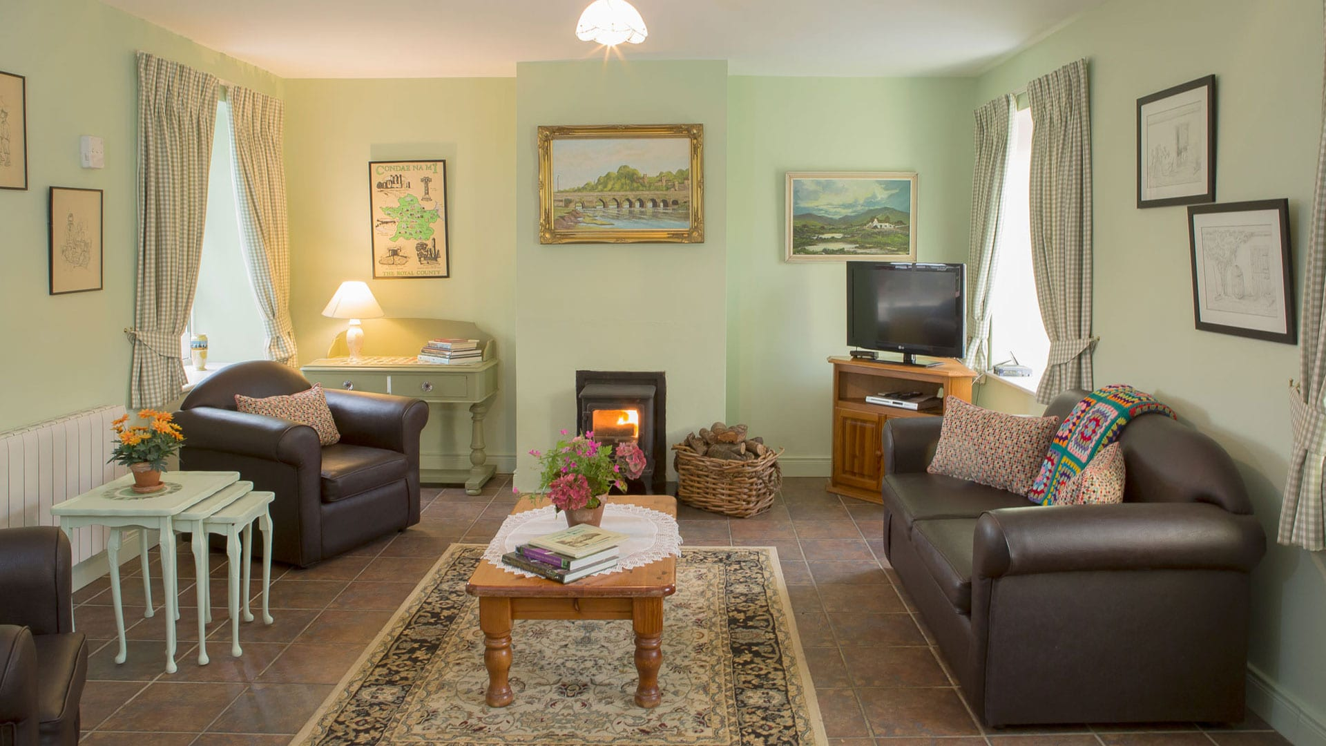 Living-Room-Couches-Sofas-Table--Holiday-Homes-Ireland-Meath-Dunshaughlin-Self-Catering