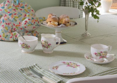 Tea Breakfast Cups Scones Afternoon Cosy Holiday-Homes-Ireland-Meath-Dunshaughlin-Self-Catering our cottages holiday homes