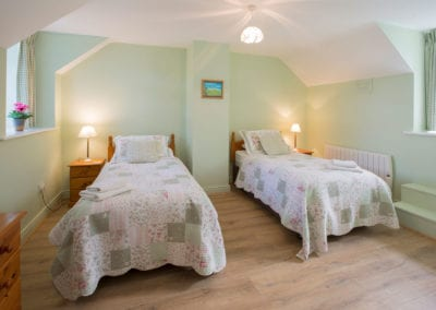 Twin Room Single Beds Bedroom Blankets Pillows Holiday-Homes-Ireland-Meath-Dunshaughlin-Self-Catering